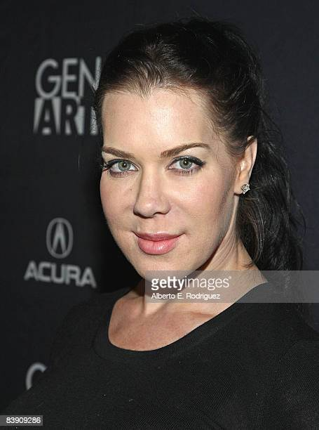 Actress Joanie Chyna Laurer arrives at the premiere of Samuel Goldwyn Films' Dark Streets held at the Arclight Theaters on December 3 2008 in...