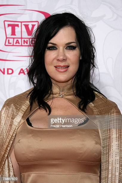 Actress Joanie Laurer aka Chyna arrives at the 5th Annual TV Land Awards held at Barker Hangar on April 14 2007 in Santa Monica California