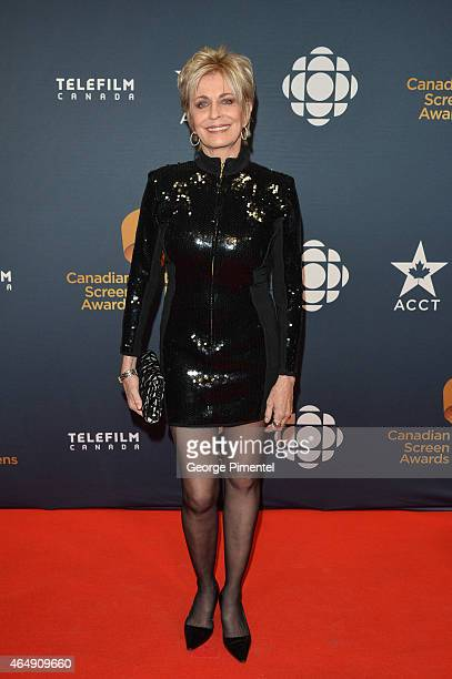 Actress Joanna Cassidy arrives at the 2015 Canadian Screen Awards at the Four Seasons Centre for the Performing Arts on March 1 2015 in Toronto Canada