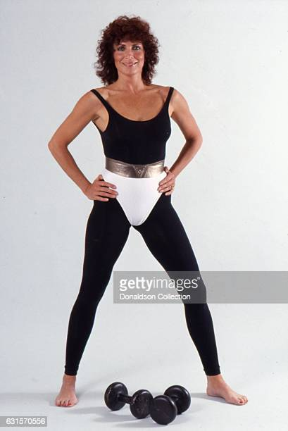 Actress Joanna Cassidy poses for a portrait session while working out in circa 1990 in Los Angeles California