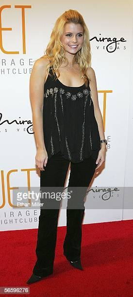Actress Joanna Garcia arrives for the grand opening of the Jet Nightclub at The Mirage Hotel Casino on January 14 2006 in Las Vegas Nevada