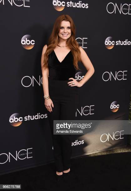 Actress JoAnna Garcia Swisher arrives at the 'Once Upon A Time' finale screening at The London West Hollywood at Beverly Hills on May 8 2018 in West...
