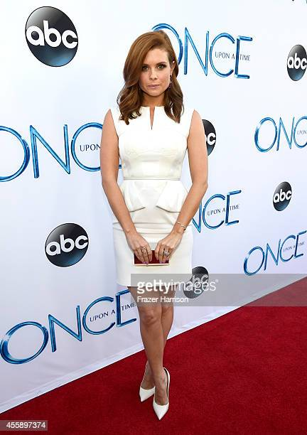 Actress JoAnna Garcia Swisher attends a screening of ABC's Once Upon A Time Season 4 at the El Capitan Theatre on September 21 2014 in Hollywood...