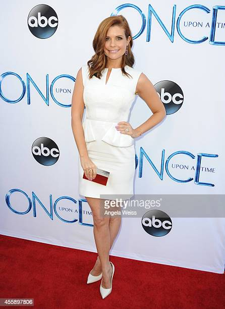 Actress JoAnna Garcia Swisher attends ABC's Once Upon A Time Season 4 red carpet premiere at the El Capitan Theatre on September 21 2014 in Hollywood...