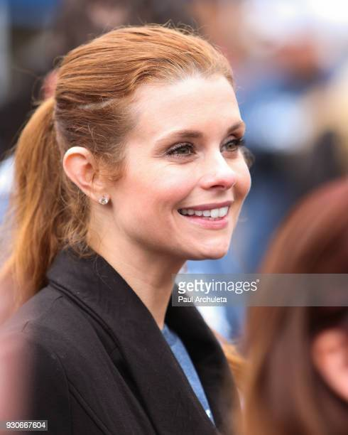 Actress JoAnna Garcia Swisher attends the Power Of Tower run/walk at UCLA on March 11 2018 in Los Angeles California