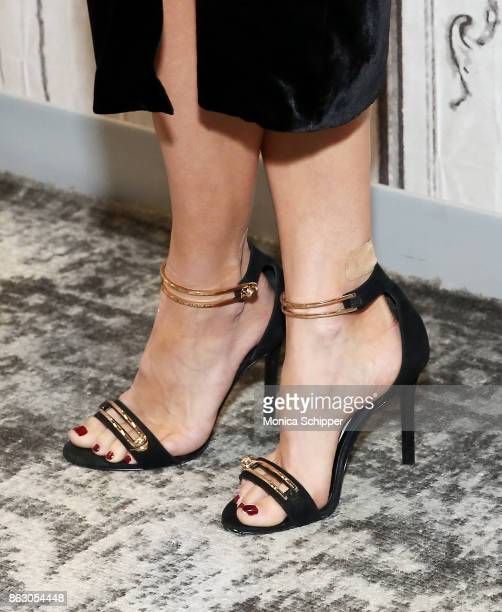 Actress JoAnna Garcia Swisher shoe detail discusses the show Kevin Saves The World at Build Studio on October 19 2017 in New York City