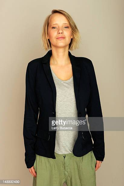 Actress Joanna Kulig of the film 'Elles' visits the Tribeca Film Festival 2012 portrait studio at the Cadillac Tribeca Press Lounge on April 24, 2012...