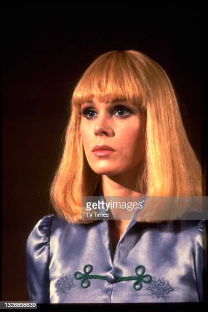 Actress Joanna Lumley in character as Sapphire in science fiction series Sapphire And Steel, circa 1981.