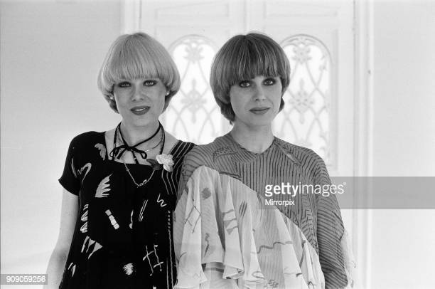 Actress Joanna Lumley with the winner of the Purdey haircut competition winner April 1977