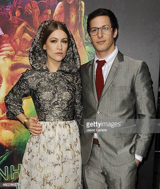 Actress Joanna Newsom and actor Andy Samberg attend the premiere of Warner Bros Pictures' 'Inherent Vice' at TCL Chinese Theatre on December 10 2014...