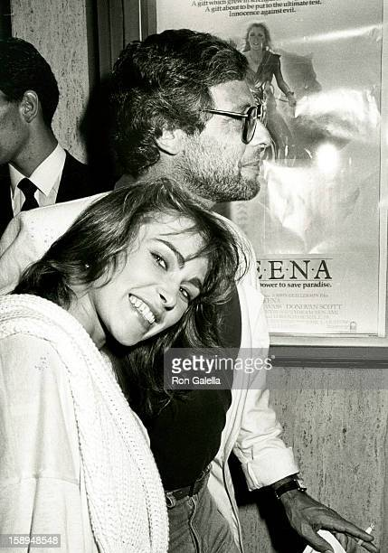 Actress Joanna Pacula and producer Howard Koch Jr attend the Sheena Century City Premiere on August 14 1984 at Plitt's Century Plaza Theatres in...