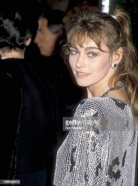 Actress Joanna Pacula attends the 14th Annual American Film Institute Lifetime Achievement Award Salute to Billy Wilder on March 6 1986 at Beverly...