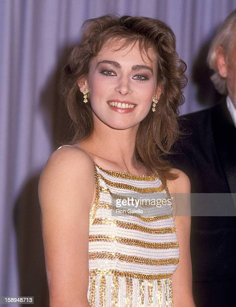 Actress Joanna Pacula attends the 56th Annual Academy Awards on April 9 1984 at Dorothy Chandler Pavilion in Los Angeles California