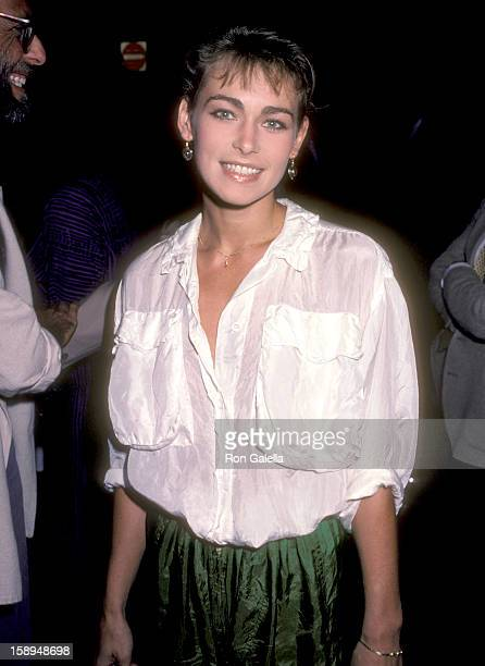 Actress Joanna Pacula attends the Amadeus Westwood Premiere on September 6 1984 at UA Coronet Theater in Westwood California