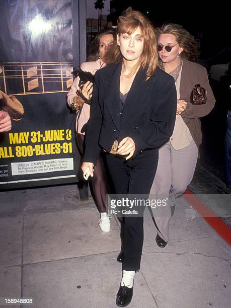 Actress Joanna Pacula attends the Backdraft Beverly Hills Premiere on May 22 1991 at Academy Theatre in Beverly Hills California