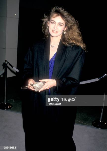 Actress Joanna Pacula attends the Cocktail Reception to Celebrate Giorgio Armani's SpringSummer '88 Collection on January 27 1988 at the Museum of...