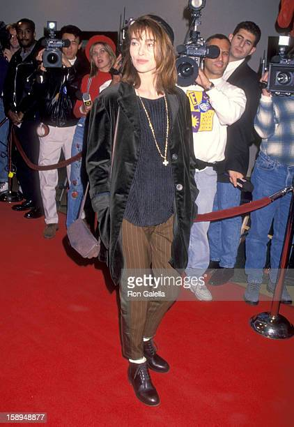 Actress Joanna Pacula attends the Disclosure Westwood Premiere on November 28 1994 at Mann Bruin Theatre in Westwood California