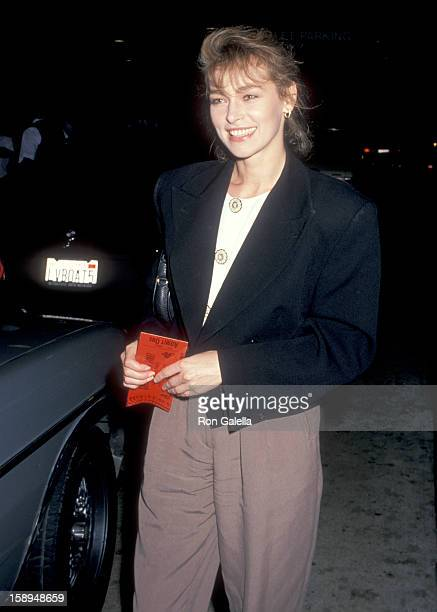 Actress Joanna Pacula attends the Great Balls of Fire West Hollywood Premiere on June 29 1989 at DGA Theatre in West Hollywood California