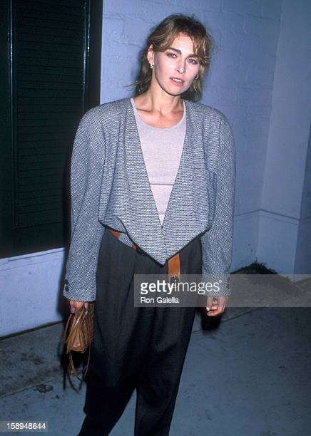 Actress Joanna Pacula attends the In Country Beverly Hills Premiere on September 14 1989 at Academy Theatre in Beverly Hills California