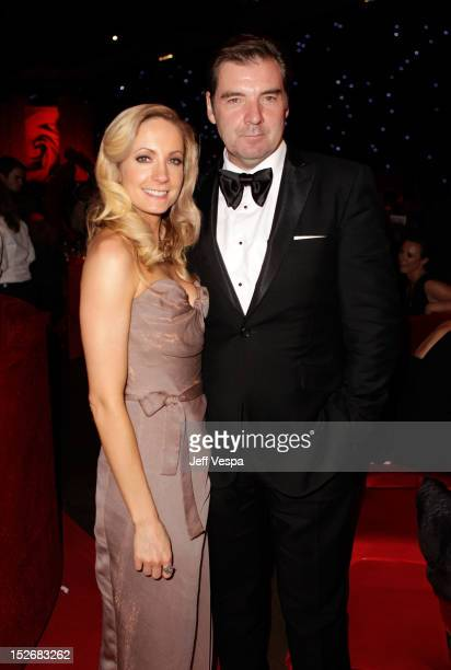 Actress Joanne Froggatt and actor Brendan Coyle attend the 64th Primetime Emmy Awards Governors Ball at Los Angeles Convention Center on September 23...