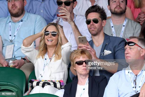 Actress Joanne Froggatt and husband James Cannon attend day 2 of Wimbledon 2017 on July 4 2017 in London United Kingdom