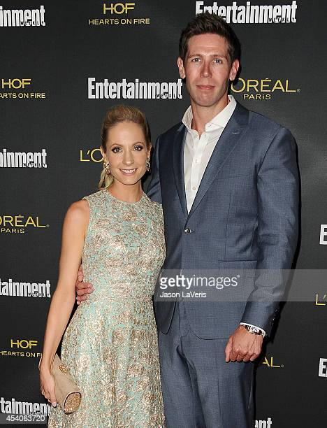 Actress Joanne Froggatt and husband James Cannon attend the 2014 Entertainment Weekly preEmmy party at Fig Olive Melrose Place on August 23 2014 in...