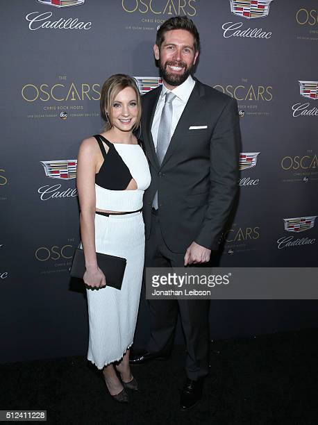 Actress Joanne Froggatt and James Cannon attend the Cadillac Oscar Week Celebration at Chateau Marmont on February 25 2016 in Los Angeles California