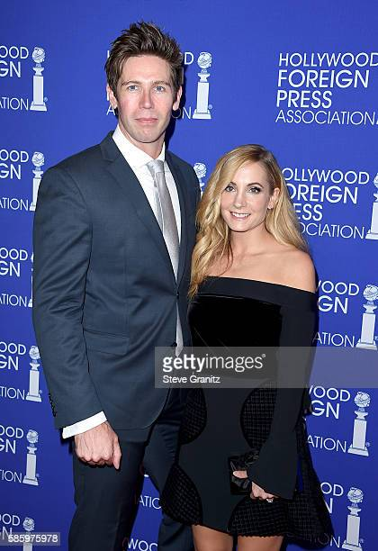 Actress Joanne Froggatt and James Cannon attend the Hollywood Foreign Press Association's Grants Banquet at the Beverly Wilshire Four Seasons Hotel...
