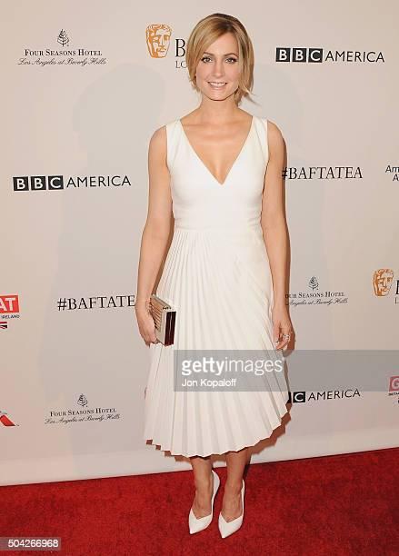 Actress Joanne Froggatt arrives at BAFTA Los Angeles Awards Season Tea at Four Seasons Hotel Los Angeles at Beverly Hills on January 9 2016 in Los...