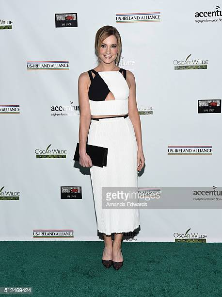 Actress Joanne Froggatt arrives at the 2016 Oscar Wilde Awards at Bad Robot on February 25 2016 in Santa Monica California