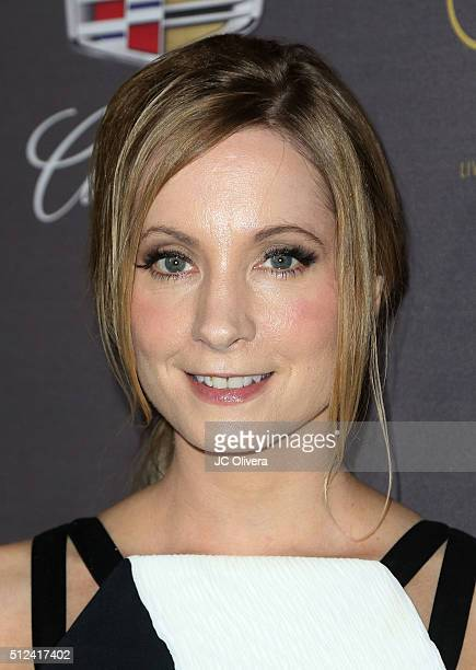 Actress Joanne Froggatt attends Cadillac Celebrates The 88th Annual Academy Awards at Chateau Marmont on February 25 2016 in Los Angeles California
