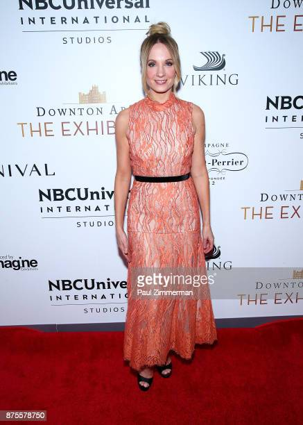 Actress Joanne Froggatt attends 'Downton Abbey The Exhibition' Gala Reception on November 17 2017 in New York City