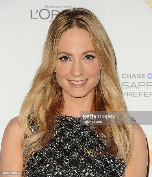 Actress Joanne Froggatt attends the Television Academy's celebration for the 67th Emmy Award nominees for outstanding performances at Pacific Design...