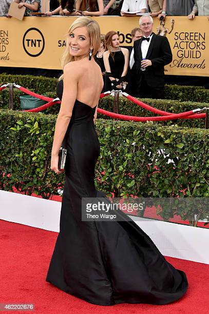 Actress Joanne Froggatt attends TNT's 21st Annual Screen Actors Guild Awards at The Shrine Auditorium on January 25 2015 in Los Angeles California...