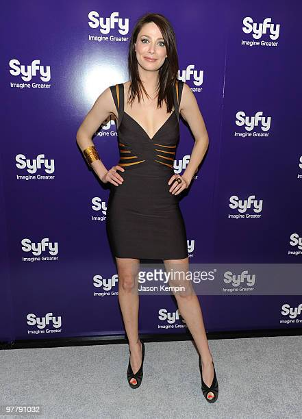 Actress Joanne Kelly attends the 2010 Syfy Upfront party at The Museum of Modern Art on March 16 2010 in New York City