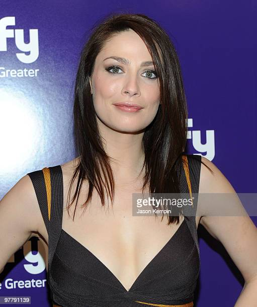 Actress Joanne Kelly attends the 2010 Syfy Upfront party at The Museum of Modern Art on March 16, 2010 in New York City.