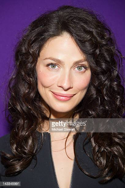 Actress Joanne Kelly attends the 2012 Syfy Upfront at the American Museum of Natural History on April 24 2012 in New York City