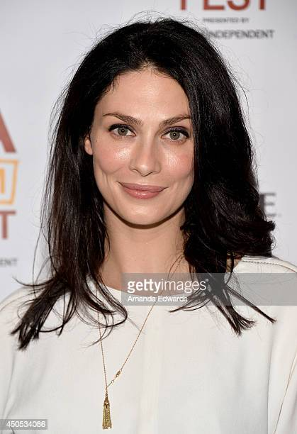 Actress Joanne Kelly attends the Runoff premiere during the 2014 Los Angeles Film Festival at Regal Cinemas LA Live on June 12 2014 in Los Angeles...