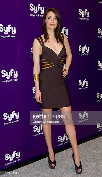 Actress Joanne Kelly attends the SYFY 2010 Upfront Party at The Museum of Modern Art on March 16 2010 in New York New York