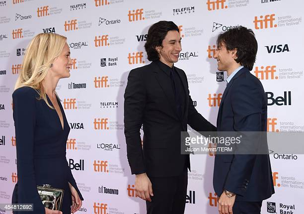 Actress Joanne Tucker Actor Adam Driver and Writer/Director Noah Baumbach attend the While We're Young premiere during the 2014 Toronto International...