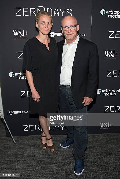 Actress Joanne Tucker and director Alex Gibney attend the Zero Days New York Premiere at New York Institute of Technology on June 23 2016 in New York...
