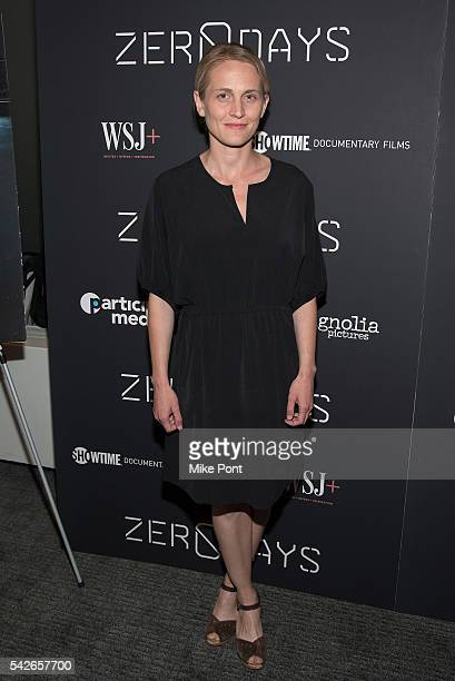 Actress Joanne Tucker attends the Zero Days New York Premiere at New York Institute of Technology on June 23 2016 in New York City