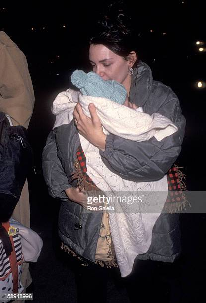 Actress Joanne Whalley and daughter Mercedes Kilmer attend a preview performance of the Broadway play Death and the Maiden on February 20 1992 at the...