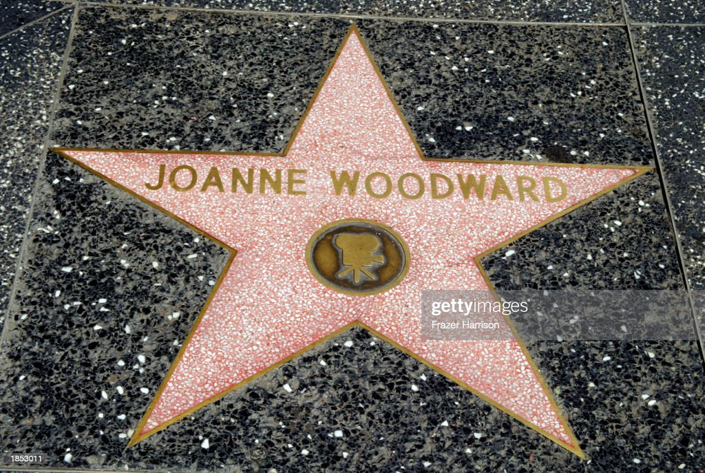 Actress Joanne Woodward's star is seen on the Hollywood Walk of Fame on March 16, 2003 in Hollywood, California.
