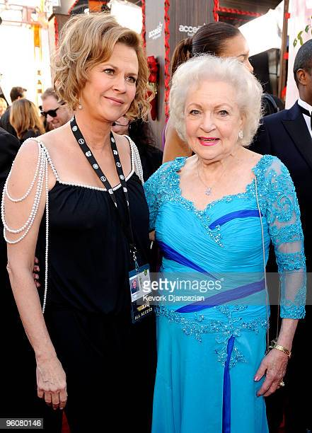 Actress JoBeth Williams and actress Betty White arrive at the 16th Annual Screen Actors Guild Awards held at the Shrine Auditorium on January 23 2010...