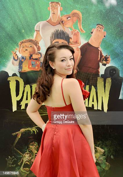 Actress Jodelle Ferland arrives at the Los Angeles premiere of 'ParaNorman' at AMC CityWalk Stadium 19 at Universal Studios Hollywood on August 5...