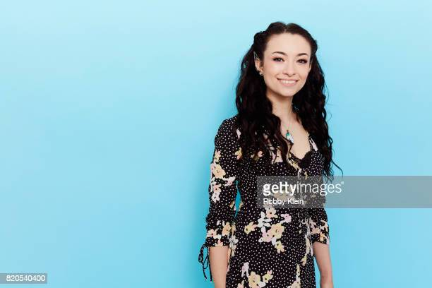 Actress Jodelle Ferland from SyFy's 'Dark Matter' poses for a portrait during ComicCon 2017 at Hard Rock Hotel San Diego on July 21 2017 in San Diego...