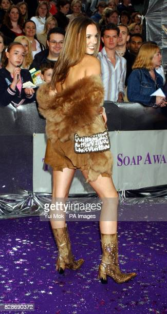 Actress Jodi Albert arrives for the British Soap Awards 2003 at BBC Television Centre in west London. The awards ceremony, hosted by Des O'Connor and...