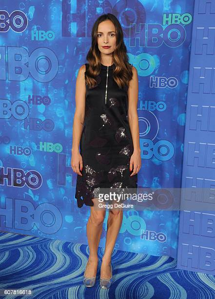 Actress Jodi Balfour arrives at HBO's Post Emmy Awards Reception at The Plaza at the Pacific Design Center on September 18 2016 in Los Angeles...