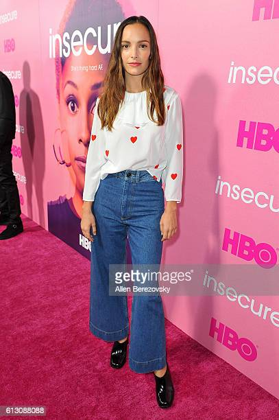 Actress Jodi Balfour attends the premiere of HBO's Insecure at Nate Holden Performing Arts Center on October 6 2016 in Los Angeles California